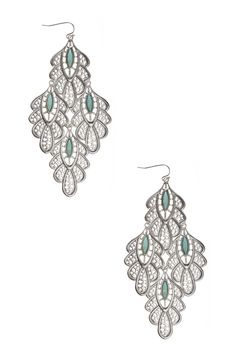 Dressing Your Truth - Type 2 Softly Peacock Earrings