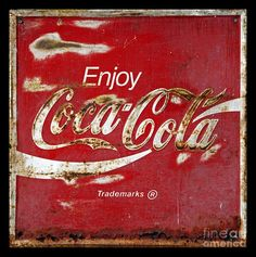 Coca Cola Print featuring the photograph Coca Cola Vintage Rusty Sign by John Stephens