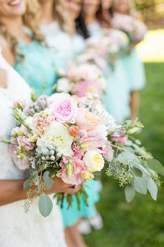 Spring Bridal Bouquet #shabbychicwedding lovewc.me/mintbridesmaid