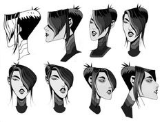 Robert Valley: Design from Tron Uprising, This is the Paige head rotation.