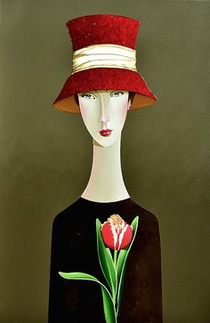Abby and the Tulip by Danny McBride Figure Painting, Painting & Drawing, Modigliani, Paintings Famous, Barn Art, Commercial Art, Abstract Painters, Surreal Art, Danny Mcbride