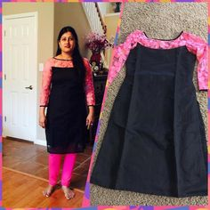 Dk Salwar Neck Designs, Churidar Designs, Kurta Neck Design, Kurta Designs Women, Blouse Designs, Kurtha Designs, Design Ideas, Simple Kurta Designs, Kalamkari Dresses
