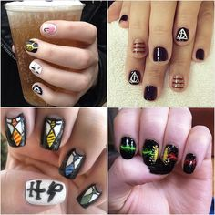 18 Harry Potter Nail Art Designs That Will Cast a Spell on You