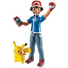 Pokemon Action Figure Ash + Pikachu                              …