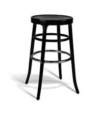 Simple Wood Bar Stool - click image to enlarge