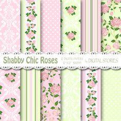 Shabby Chic Digital Paper SHABBY PINK GREEN by DigitalStories  https://www.etsy.com/listing/127767005/shabby-chic-digital-paper-shabby-pink?ref=shop_home_active_9