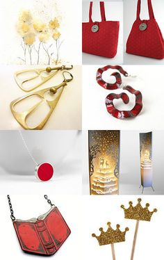 Gold..and gold..red and red.. by La Terra Canta on Etsy--Pinned with TreasuryPin.com