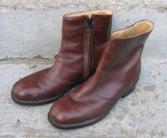 mens iron age leather safety boots size 7 c by rivertownvintage