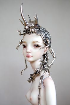 Hybrid Beetle Crown by The Enchanted Doll