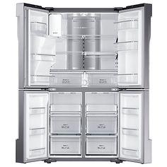 Buy Samsung RF56J9040SR 4-Door American Style Fridge Freezer, A+ Energy Rating, 90cm Width, Stainless Steel Online at johnlewis.com