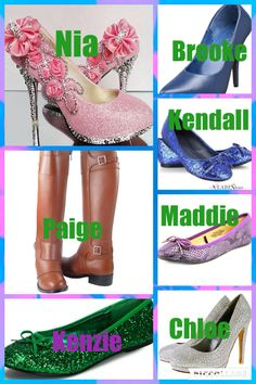 Hey guys so I matched the girls and their fashion to their shoes. Which shoe do you like the most???