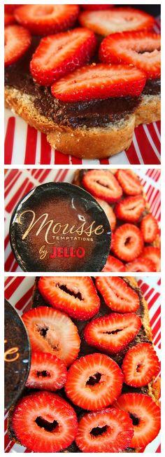 Dark Chocolate Strawberry Toast, but  healthy