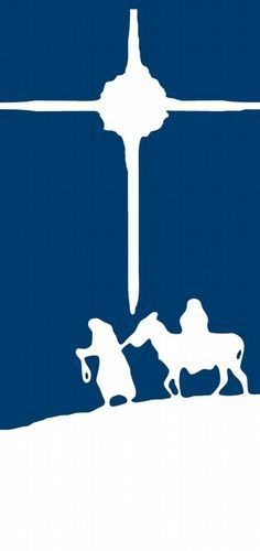 Advent - journey silhouette