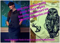 West Coast Clothing Contest - Open to North America - Mommyfootprint.com. Nothing more stunning with Eco fashion than West Coast designs. Enter to win thsi Smoking Lily dress and Pina Styles slouchy sweatshirt.