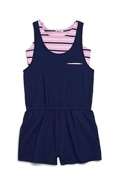 Splendid | Girl's Two-Piece Striped Top & Romper Set | SAKS OFF 5th