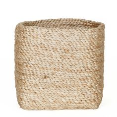 This square shaped jute storage basket is perfect for sorting out all the small bits & pieces around the place like socks, small toys, scarves, toiletries, hairdryer, small plants & herbs or a box of tissues ....the possibilities are endless. Dimensions:- 15cm x 15cm and Height 15cm.