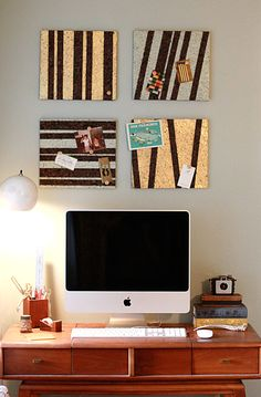 hopefully doing today! Found a 4 pk of sq cork boards on clearance for $2...     @Jessica Holli, one of todays crafts for me