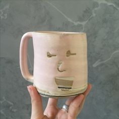 Marbled Face mug by Mia Schachter for Paperclip Pottery