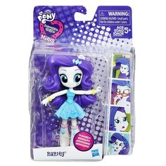 The My Little Pony Equestria Girls Minis School Dance Rarity doll is poseable and ready for fashionista fun! Pretend to rock the runway with this darling little doll featuring articulated arms and legs. This Rarity doll has style to spare with a skirt and two bracelet accessories! Get ready to imagine bringing the fashion fun to the school dance with this great, poseable doll. Also look for other My Little Pony Equestria Girls Minis dolls! (Each sold separately. Subject to…