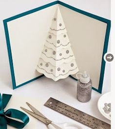 Create your own Christmas cards that will be unique, funny and ideal for people that you love. Here we offer you 24 amazing ideas for diy Christmas cards, Pop Up Christmas Cards, Diy Holiday Cards, Christmas Card Template, Pop Up Cards, Diy Cards, Christmas Place, Simple Christmas, Handmade Christmas, Christmas Crafts