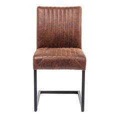 Een stoere en tegelijkertijd een elegante eetkamerstoel. Verfraai je binnen interieur met deze stijlvolle eetkamerstoelen Liberty van het merk Kare Design.