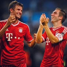 Müller and Lahm  Bayern Munich