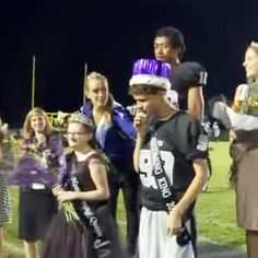 Students at Utah's Riverton High School surprised two of their special needs classmates by voting them Homecoming King and Queen.