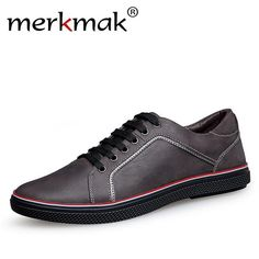 b670e6f337366 Merkmak Handmade 100% Genuine Leather Men Casual Shoes