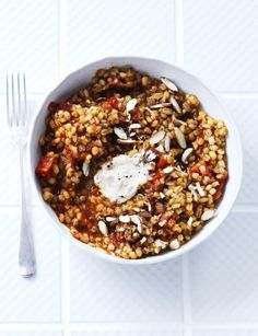 Tomato and rosemary pearl barley risotto http://www.sainsburysmagazine.co.uk/recipes/mains/veggie-2/item/tomato-and-rosemary-pearl-barley-risotto