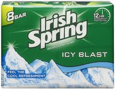 Irish Spring Icy Blast Deodorant 3.75-ounce Bar Soap
