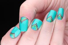 Polish All the Nails: A is for Aztec: Rainbow Kinda Aztec Nails
