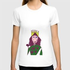 Queen of Hearts T-shirt by azima Queen Of Hearts, Coffee, Female, Tees, Mens Tops, T Shirt, Stuff To Buy, Fashion, Kaffee