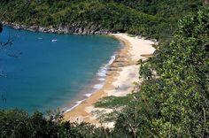 A praia do Jabaquara, a última acessível por carro, ao norte da Ilha(Reginaldo Pupo/Agência Facto/divulgação)