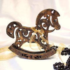 Купить Интерьерная лошадка-качалка - коричневый, лошадка, лошадь, лошадь сувенир, лошадка-качалка