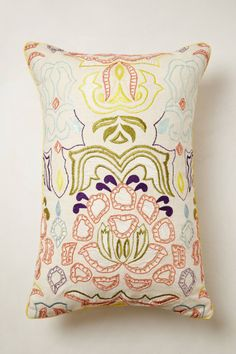 Beaded Water Lily Pillow - anthropologie.com
