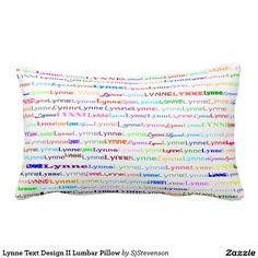 Lynne Text Design II Lumbar Pillow