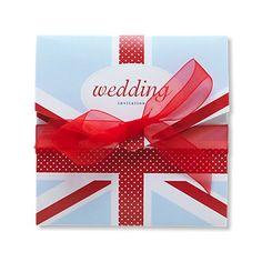 Cool Britannia Wedding Invitation. Celebrate the Queen's Diamond Jubilee!
