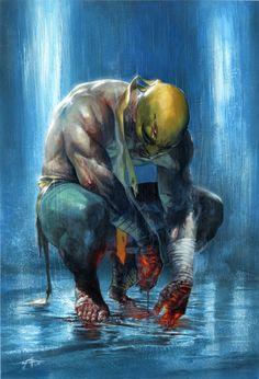 "Gabriele Dell'Otto ""Iron Fist variant cover # 1"""