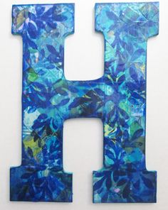 h nursery letter h wall letter h decorative letter by dulcetwhimsy 2200