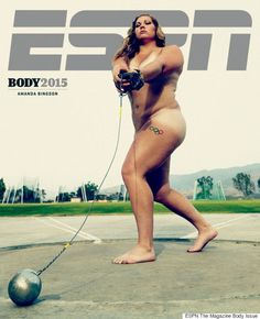Amanda Bingson is a record-breaking Olympic athlete, but it was her nude photo on the cover of ESPN The Magazine's Body Issue that turned her into a household name. At 210 pounds, the hammer thrower Natalie Coughlin, Body Love, Loving Your Body, Nice Body, Michael Phelps, Body Positive Quotes, Body Quotes, Kevin Love, Entertainment