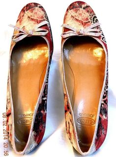 Circa Joan David Stephanie Wine Multicolor Paisley Fabric Leather Heels Shoes 10 #CircaJoanDavid #PumpsClassics