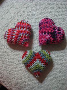Crochet hearts, inspiration.
