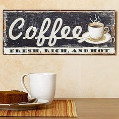 Metal Coffee Sign | Wall Art and Decor| Home Decor | World Market. Have a couple and love them!
