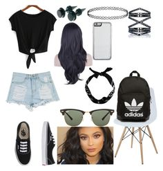 """""""Untitled #49"""" by madriz-soamdi on Polyvore featuring Vans, adidas Originals, Eva Fehren, Ray-Ban, women's clothing, women's fashion, women, female, woman and misses"""