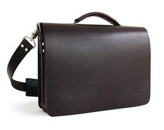 15.25 Handmade Messenger Bag Full-Grain Leather