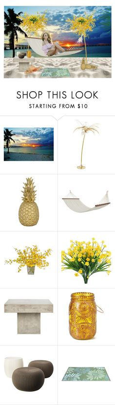 """PLAYA"" by yexiyei on Polyvore featuring moda, Goodnight Light, Bloomingville, The French Bee y Safavieh"