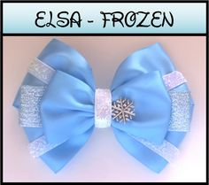 Elsa hair bow - inspired Disney's Frozen. Shop our hand-made, quality, Disney inspired hair bows, and meticulously selected Disney Princess inspired jewelry here: ebay.com.au/sch/theartofogygia International shipping available! Free shipping in Australia! For decoupage, fine art and DIY furniture upcycling subscribe to our blog by clicking the website link below!