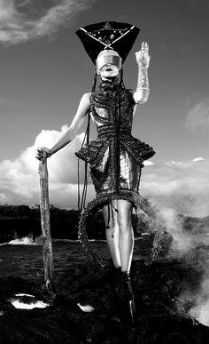 Daphne Guinness by David LaChapelle - Slow Burn - Harper's Bazaar, China, December 2012. S)