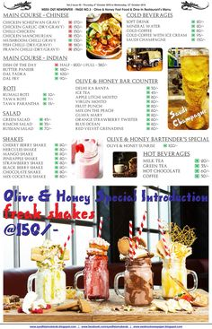 Olive & Honey Fast Food & Dine In Restaurant Reviewed - Bhopal's Best Restaurant by Week Out Newspaper - 10 out of 10 Stars -SyedFaizMubarak