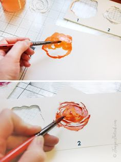 Tips for using Silhouette cut files to create beautiful watercolor flowers